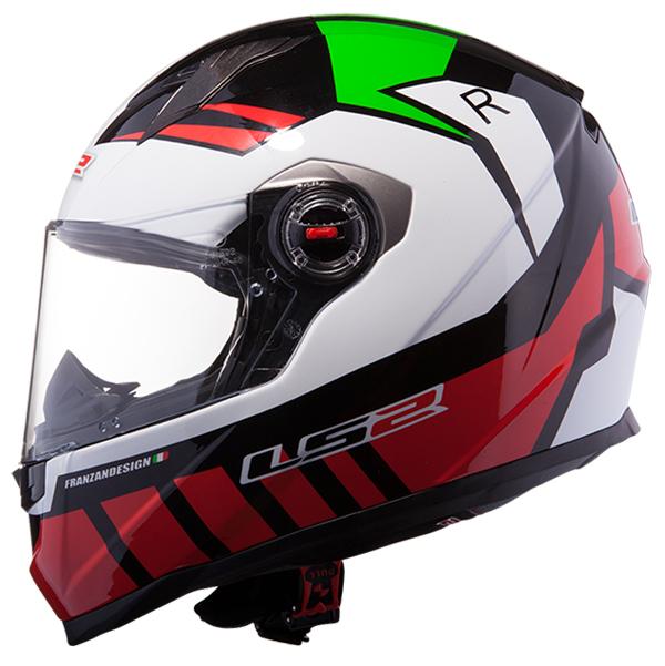 Full face helmet LS2 FF322 Voltage White Red Green
