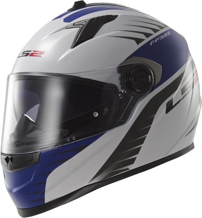 LS2 FF322 Concept II Air Fighter full face helmet White Blue