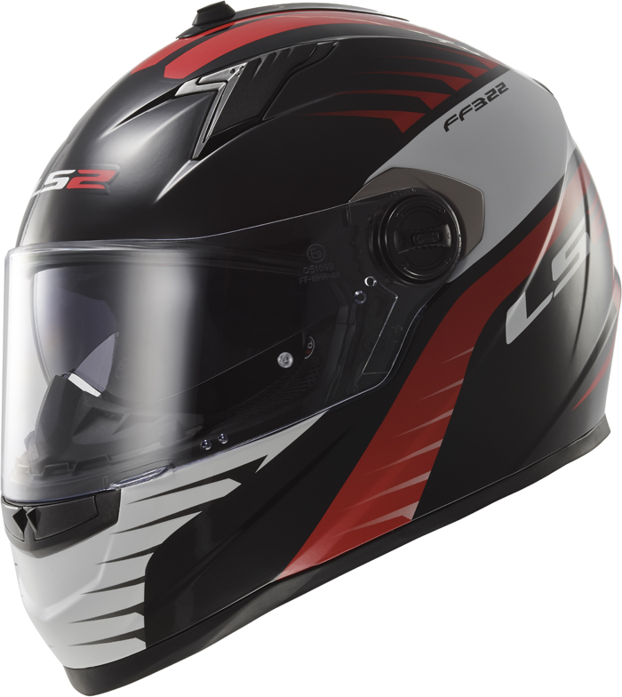 LS2 FF322 Concept II Air Fighter full face helmet Black Red