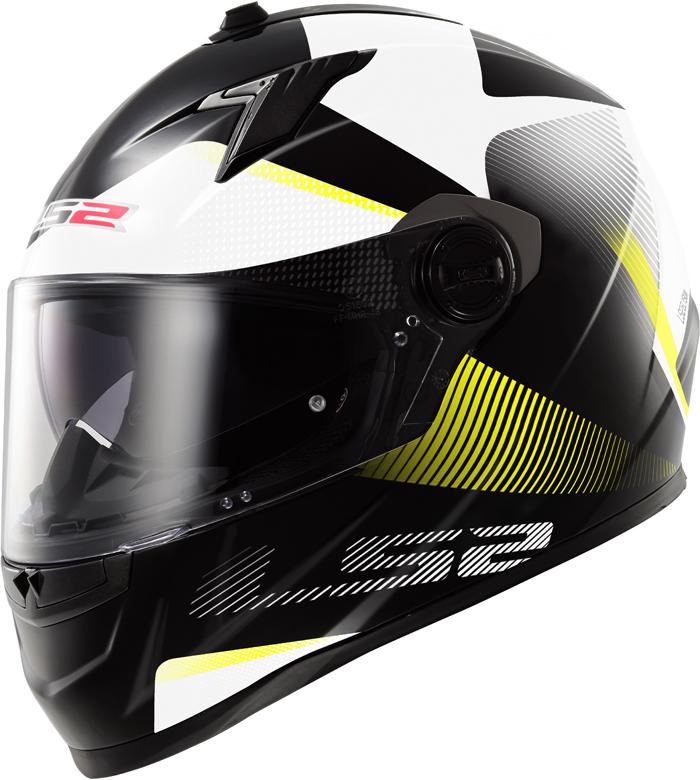LS2 FF322 Concept II Tyrrell full face helmet Black Yellow