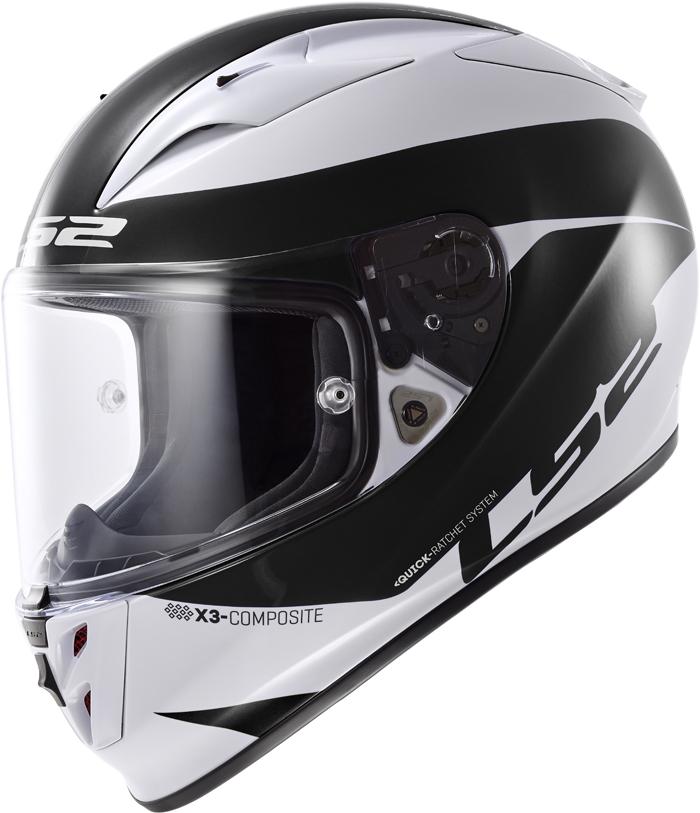 LS2 FF323 Arrow R Comet full face helmet White Black