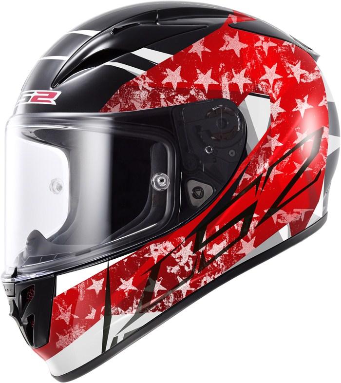 LS2 FF323 Arrow R Stride full face helmet Black Red