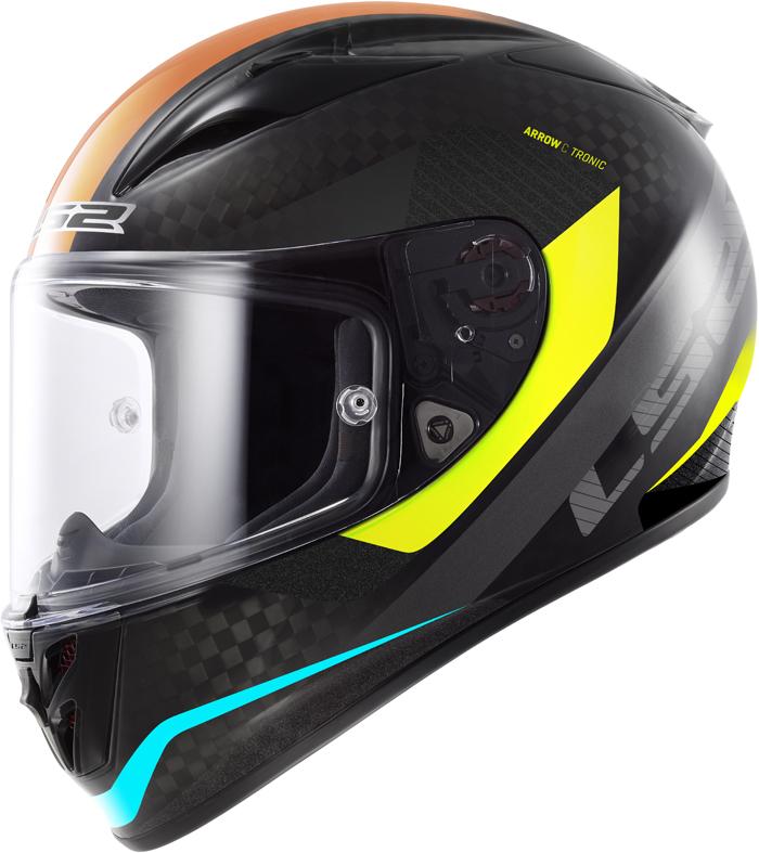 LS2 FF323 Arrow C Tronic full face helmet Carbon Yellow
