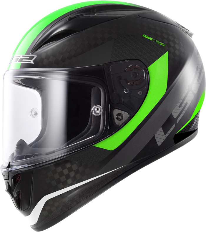 LS2 FF323 Arrow C Tronic full face helmet Carbon Green