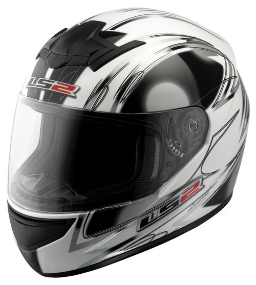Casco moto LS2 FF351.7 Diamond bianco lucido