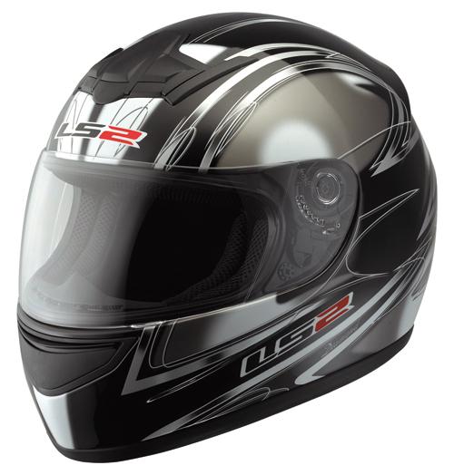 LS2 FF351.7 Diamond Full Face Helmet Gloss Black