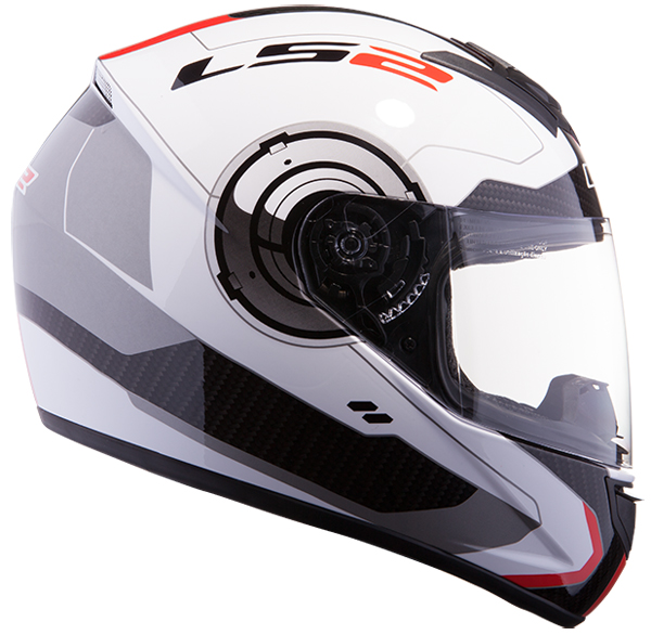 Full face helmet LS2 FF351 Atmos White Red