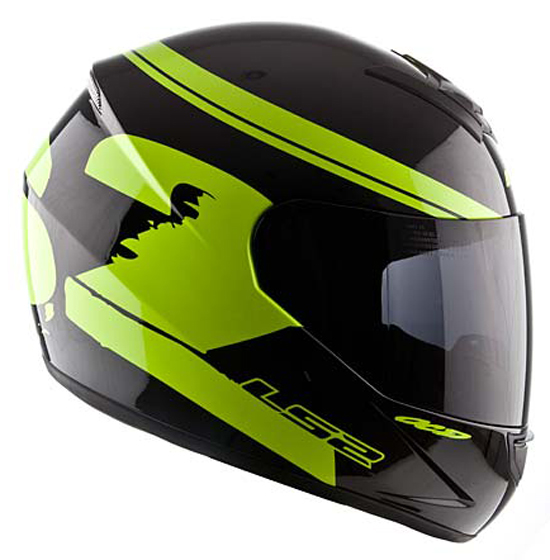 Full face helmet LS2 FF351 Black Fluo Yellow