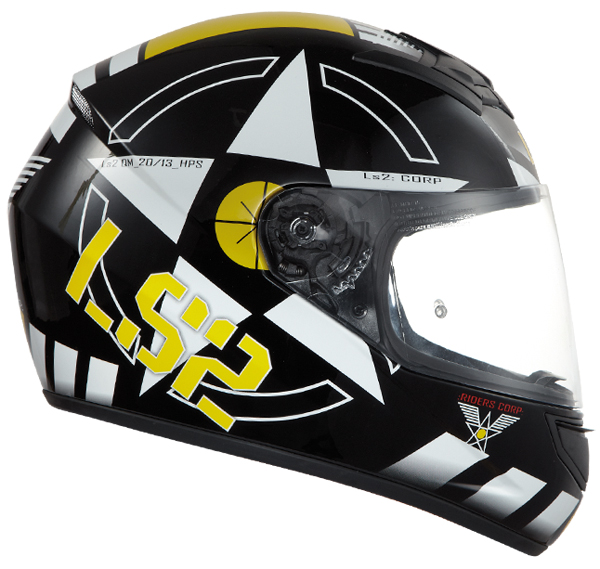 Full face helmet LS2 FF351 Corps Black White Yellow
