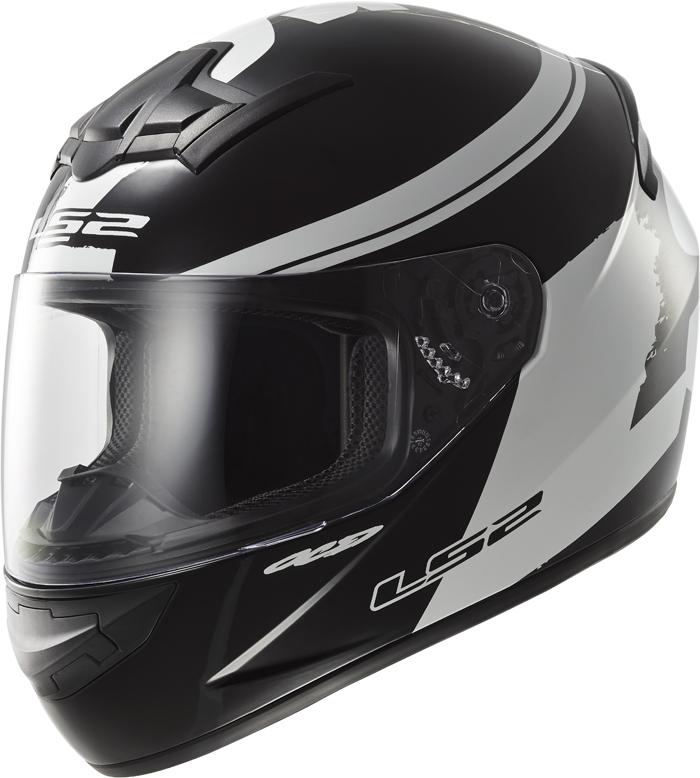 LS2 FF352 Rookie Fluo full face helmet Black White