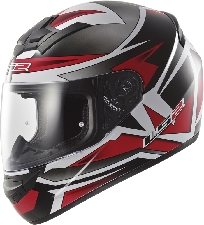 LS2 FF352 Rookie Gamma full face helmet Black Red