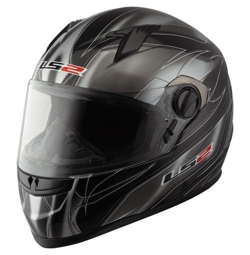 """Casco moto LS2 FF358.2 Supra con """"Air-Go System"""" nero-titanium"""