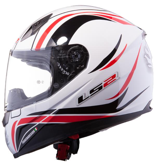 Full face helmet LS2 FF384 White Red Phoenix