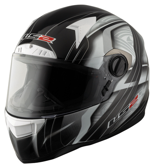 LS2 FT2 Split Full Face Helmet - Col. Gloss Black/White