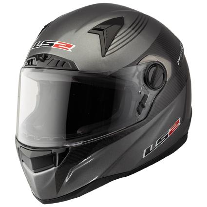 LS2 FF385 CR1 PILOT full face helmet Titanium