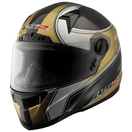 Casco moto integrale LS2 FF385 CT2 DESIRE Carbonio-Oro