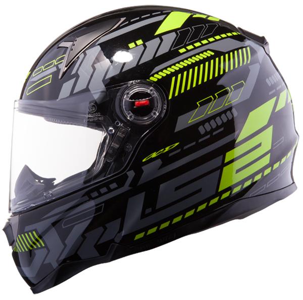 Full face helmet LS2 FF396 FT2 Tron Black Yellow fluo