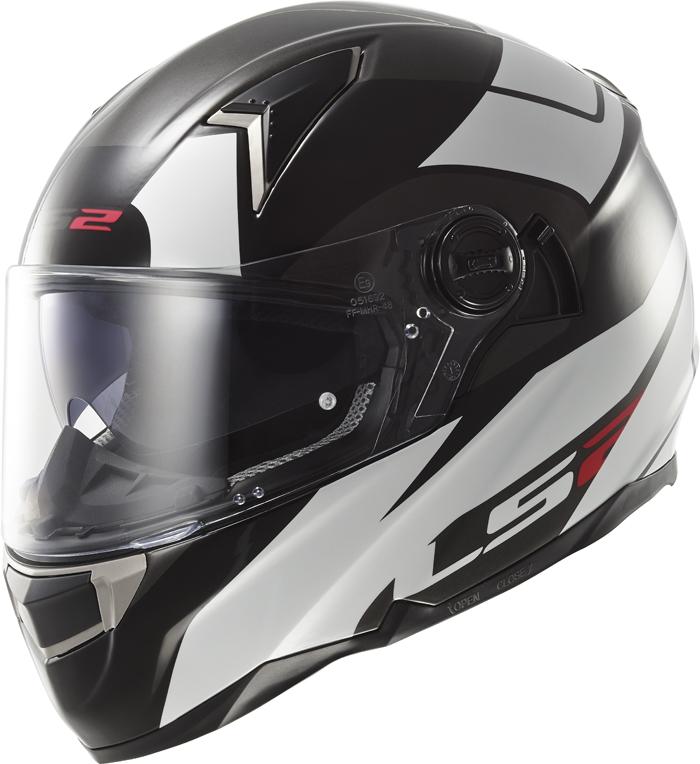 LS2 FF396 Dart FT2 Thunderbolt full face helmet White Black
