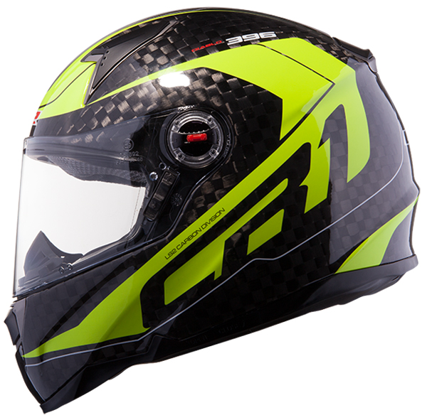 Full face helmet LS2 FF396 CR1 Carbon Diablo fluorescent yellow