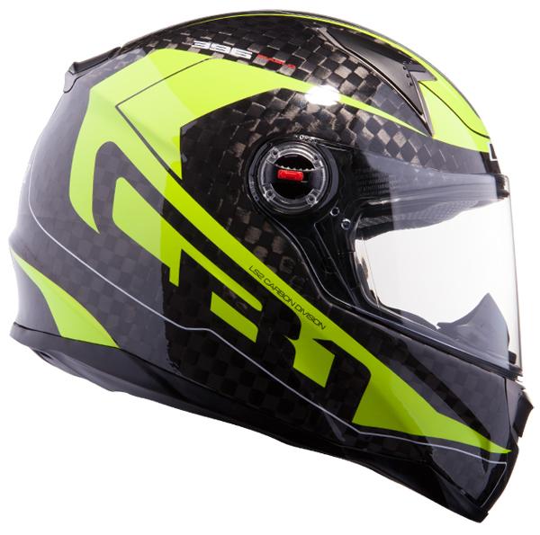 Full face helmet LS2 FF396 CR1 Carbon Diablo fluorescent yellow