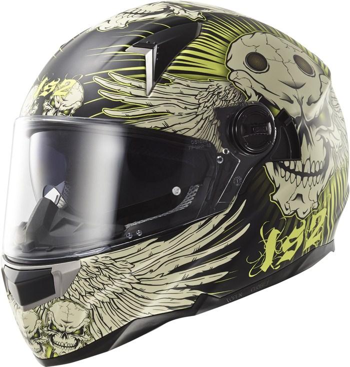 LS2 FF396 Dart FT2 Frantic full face helmet matte Black Yellow