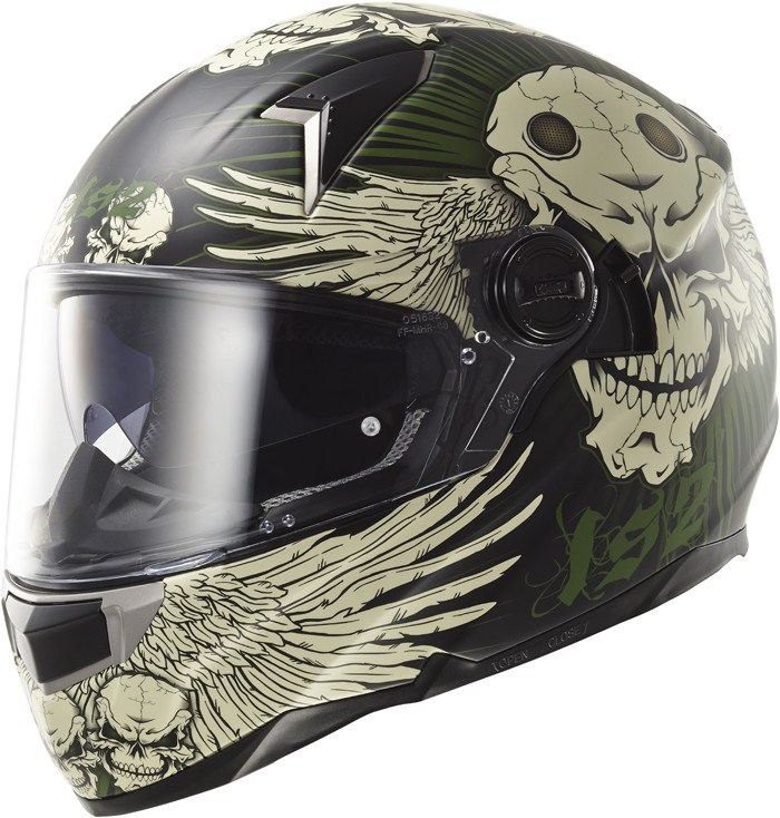 LS2 FF396 Dart FT2 Frantic full face helmet Black military Green