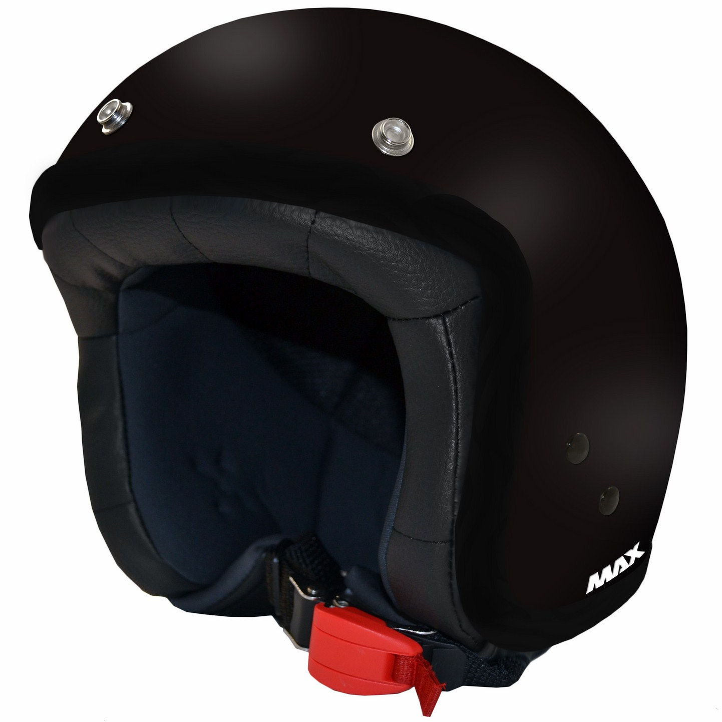 Casco jet Max Flag Black Cromo Nero