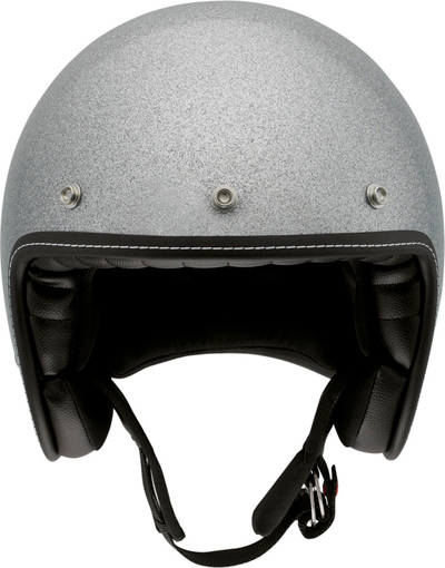 Agv RP60 Metal Flake silver demi-jet helmet