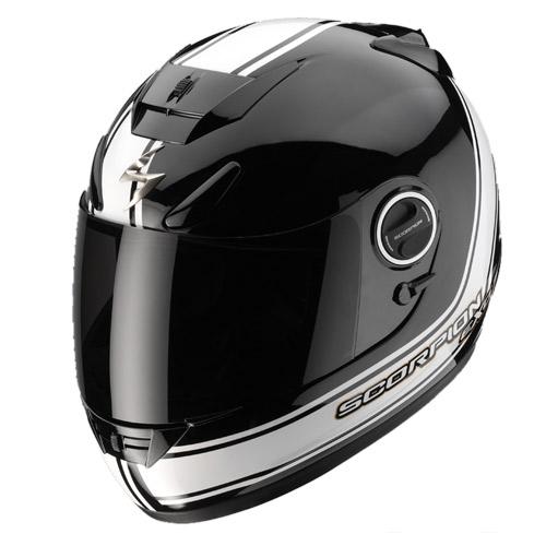 Scorpion Exo 750 Air Vintage full face helmet Black White