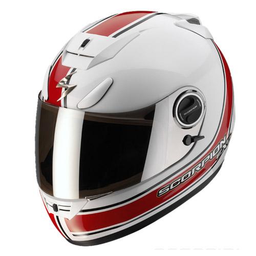 Scorpion Exo 750 Air Vintage full face helmet White Red