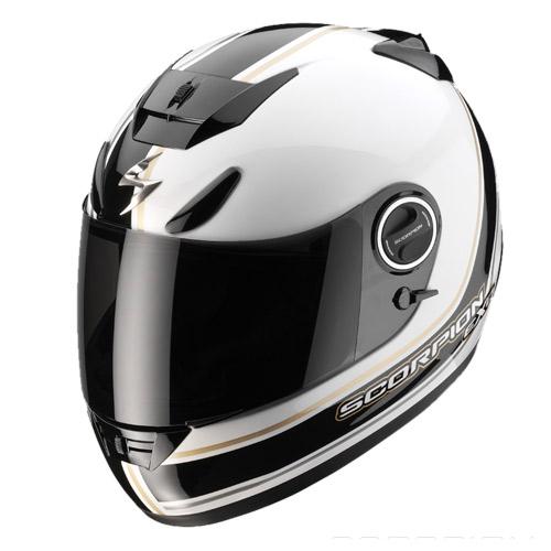 Scorpion Exo 750 Air Vintage full face helmet White Black