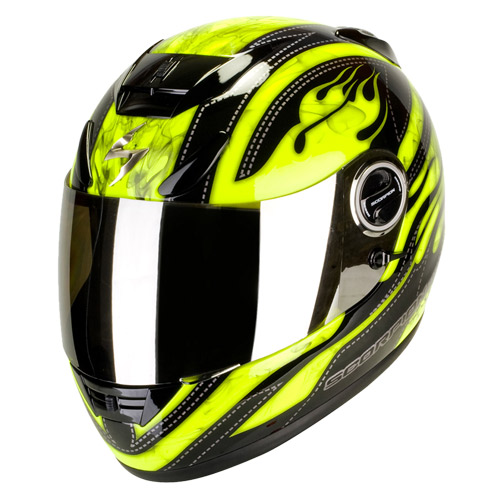 Scorpion Exo 750 Air Smoky full face helmet Black Neon Yellow