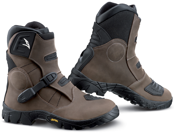 Boots leather cross Falco Volt Atv Brown