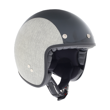Diesel Old Jack Multi Herringbone jet helmet Grey