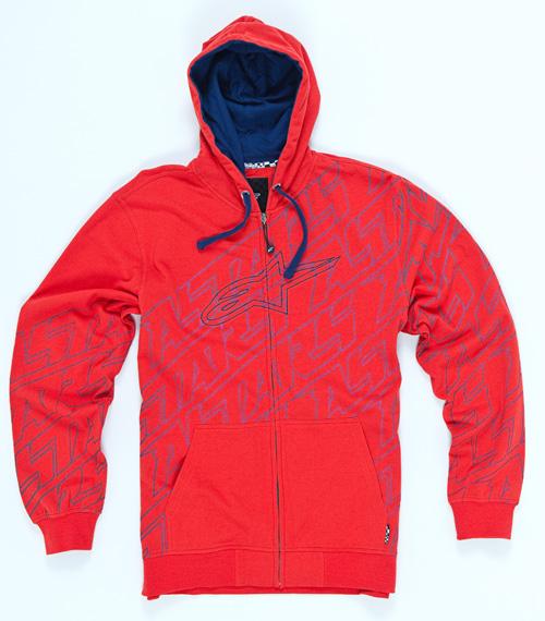 Fleece Full Zip Hoodie red Alpinestars