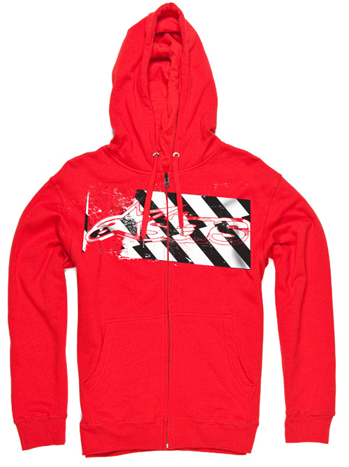 Alpinestars Felpa Hazard Zip Fleece red
