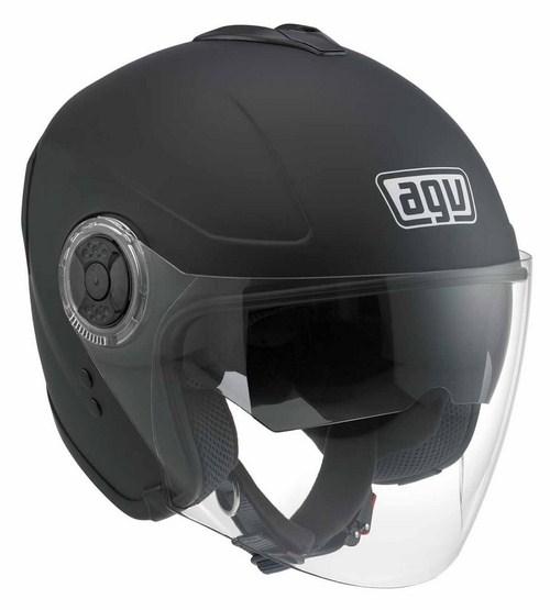 Agv Fiberlight mono jet helmet flat black