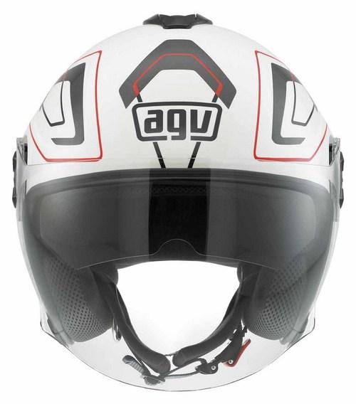 Agv Fiberlight Multi Future jet helmet white white-grey-red