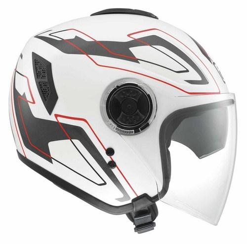 Casco moto Agv Fiberlight Multi Future bianco-grigio-rosso