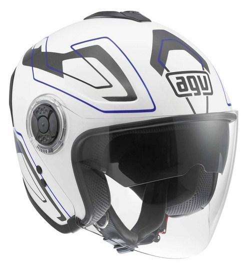 Casco moto Agv Fiberlight Multi Future bianco-grigio-blu