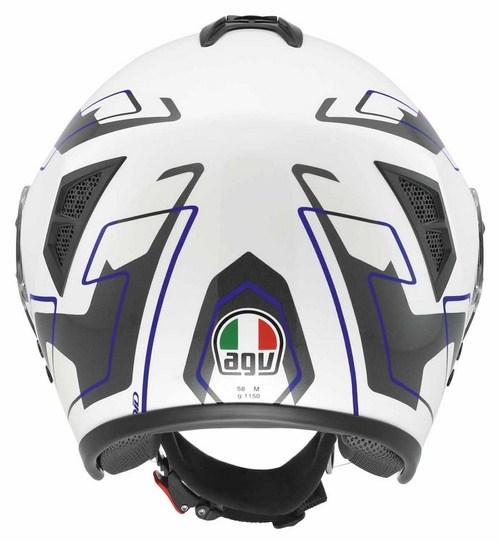 Agv Fiberlight Multi Future jet helmet white white-grey-blue