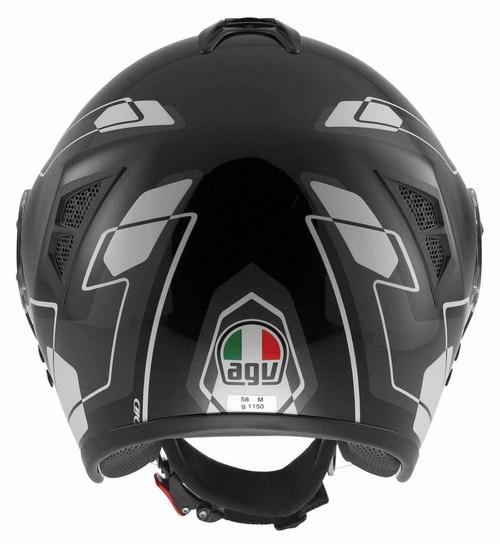 Agv Fiberlight Multi Future jet helmet white white-grey-black