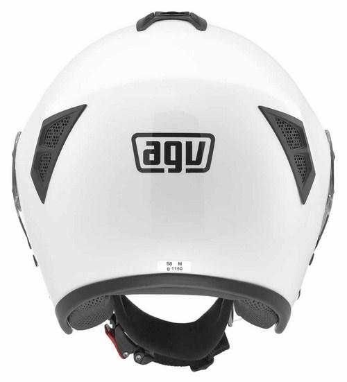 Agv Fiberlight mono jet helmet white