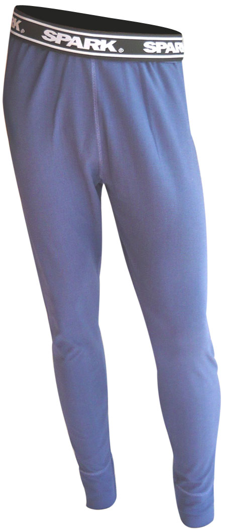 Pantaloni termici Spark in fibra Meraklon Isofil Blu