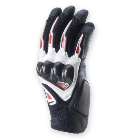 Summer Motorcycle Gloves Clover R-9 Black Red Raptor