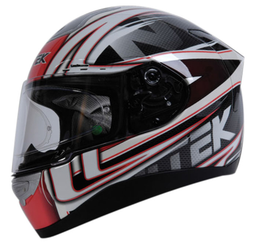 Casco moto integrale Nitek P1 Racerhead Rosso