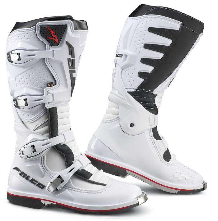 Stivali cross Falco Extreme Pro 3 con scarpetta D3O Bianco Nero