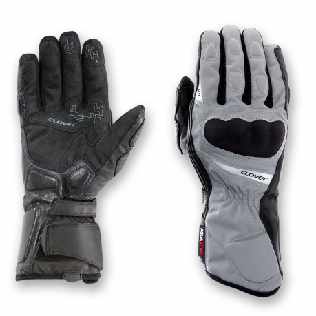 Clover GTI WP Waterproof Motorcycle Gloves Black Grey