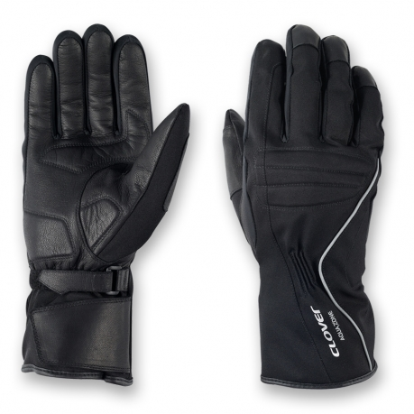 Clover Voyager WP Waterproof Motorcycle Gloves Black