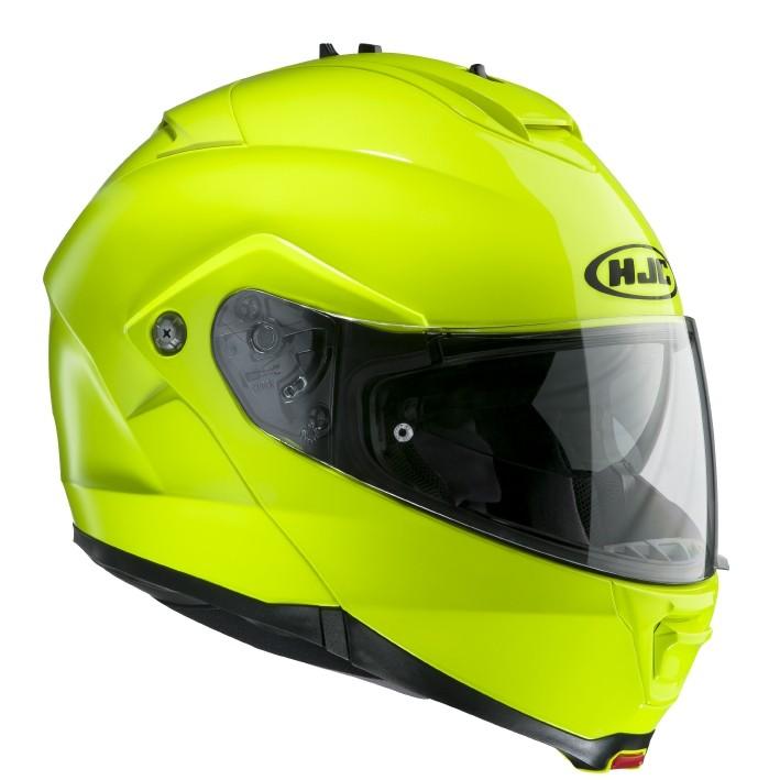 HJC ISMAX II flip off helmet Yellow Neon